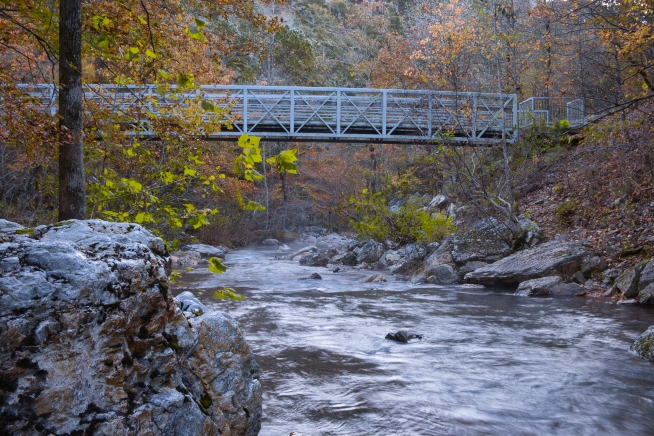 Little Missouri Falls Pedestrian Bridge