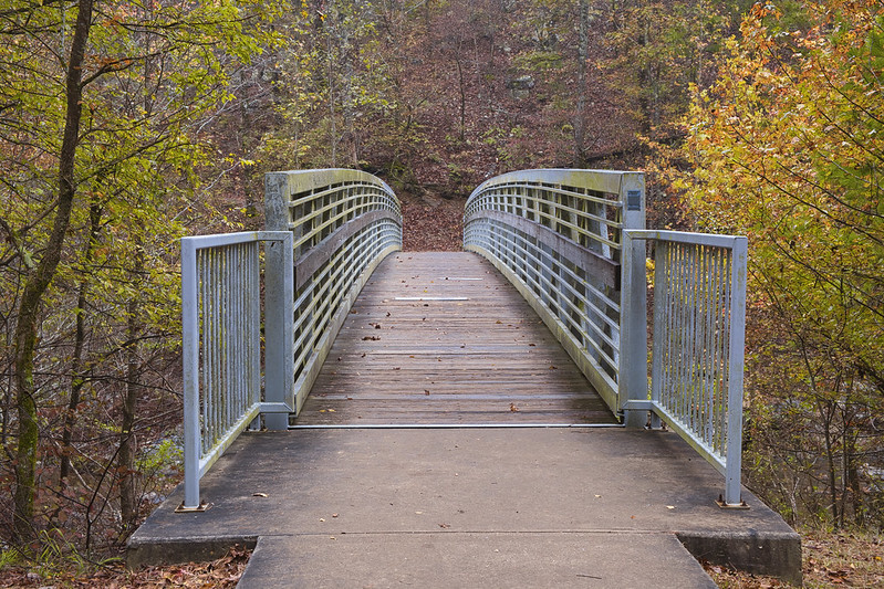 Little Missouri Falls Pedestrian Bridge